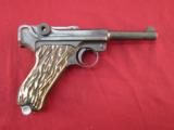DWM Luger in .30 Luger with Aftermarket Grips