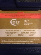 Colt Detective Special (2 in., blue, orig. box, unfired) - 5 of 6