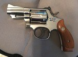 Smith and Wesson 19-4 (nickel, 2 inch, P and R., gorgeous!)