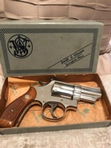Smith and Wesson 19-4 (nickel, 2 in, box)