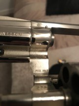 Smith and Wesson 19-3 (snub, nickel, p and r!) - 3 of 6