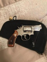 Smith and Wesson 19-3 (snub, nickel, p and r!) - 1 of 6