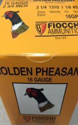 Fiocchi Golden Pheasant 16 Gauge 2 3/4 - 2 of 3