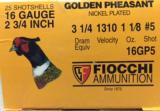 Fiocchi Golden Pheasant 16 Gauge 2 3/4