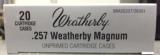 Weatherby Factory New 257 Weatherby Magnum Brass Cases - 1 of 4