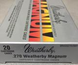 Weatherby Factory New 270 Weatherby Magnum Brass Cases - 2 of 4