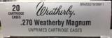 Weatherby Factory New 270 Weatherby Magnum Brass Cases