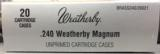 Weatherby Factory New 240 Weatherby Magnum Brass Cases