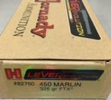 Hornady Lever Evolution 450 Marlin 325 gr FTX - 4 of 4