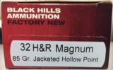 Black Hills 32 H&R Magnum 85gr HP Factory New