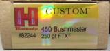 Hornady Custom 450 Bushmaster 250gr FTX