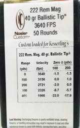 Nosler Custom Loaded 222 Rem Mag Ammunition- 1 of 4