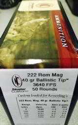 Nosler Custom Loaded 222 Rem Mag Ammunition- 2 of 4