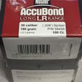 Nosler Accubond Long Range 30 Caliber 190 gr Bullets