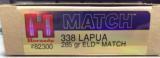 Hornady 338 Lapua 285 gr ELD Match Ammunition
