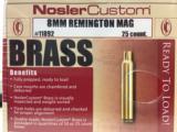 Nosler Custom 8mm Remington Magnum Unprimed Brass Cases