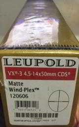 Leupold VX-3 4.5-14x50mm CDS Matte Black Wind-Plex 120606 - 2 of 3