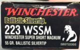 Winchester Supreme 223 WSSM 55gr Ballistic Silvertip SBST223SS