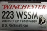 Winchester Super X 223 WSSM 55gr Pointed Soft Point X223WSS