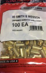 Winchester 40 Smith and Wesson Factory New Unprimed Brass