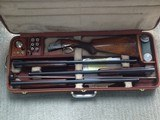 Browning Diana Superposed 3 gage Skeet set with letter