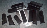 Assortment of Glock mags.