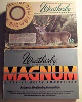 TWO unopened boxes of Weatherby ammo