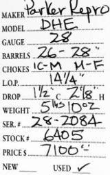 Parker Repro DHE 28 Gauge - 5 of 5