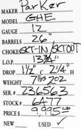 Parker GHE 12 Gauge - 5 of 5