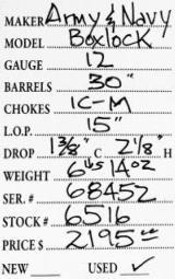 Army & NavyBoxlock12 gauge- 5 of 5