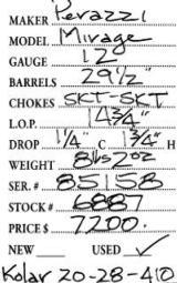 Perazzi Mirage 12 Gauge W/ Kolar Sub Gauge Tube Set - 9 of 9