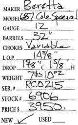 Beretta 687 Cole Special 12 Gauge - 9 of 9
