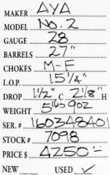 AYA No. 2 28 Gauge - 9 of 9