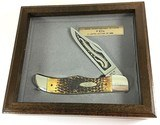 1985 Case XX Hunter Knife STAG 5166 SS 80th Anniversary Limited Edition Second Cut Stag + Display