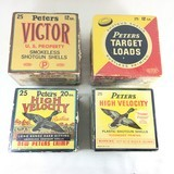 Vintage Ammo Various Peters Shotgun Shells Collectible Boxes 12 Ga / 20 Ga YOUR CHOICE (See Listing for full details)