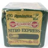 Remington UMC Nitro Express .410 2 Pc Vintage Box & Shotshells