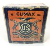 Climax US Cartridge Co. 16ga 2 Piece Vintage Collectible Box & Shotshells