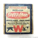 Rare Winchester Repeater Speed Loads 16 ga 2 Piece Box Vintage