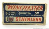 Winchester Staynless 22 Short Rimfire Vintage - 1 of 7