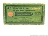 1920's Remington UMC 22 WRF Winchester Lesmok FULL Collectible Box + Ammo
