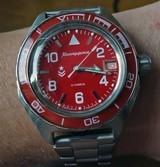 Russian watch Vostok Komandirskie Red - 200m - new
