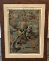 Fantastic original Parker Bros. Squirrel poster - the ultimate gun room accessory!