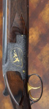 "Superb and rare Browning Midas Grade 20ga ""Superlight"" Superposed -Triple Signed - Field chokes and MINT with box"