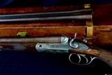fine original condition parker gr. 3 10 bore - original 2 barrel set with orig. case