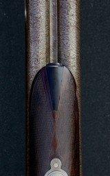 Extremely rare and fine Lefever D Grade 10 Bore Sidecocker with original Bernard Damascus barrels - 5 of 11