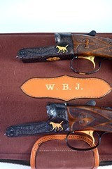 Extraordinary and mint true pair Winchester Model 21 Grand Americans with full documentation- 12ga and 20ga 2 barrel sets with special order features!