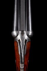 Interesting Parker DHE 12ga game gun with straight stock, checkered butt and Parker SST - Long LOP and great modern dimensions!!! - 5 of 13