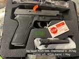 Sig Sauer P229 DAK. Chambered in .357sig