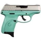 Ruger EC9s Pistol, Stainless Slide, Turquoise Cerakote 3286