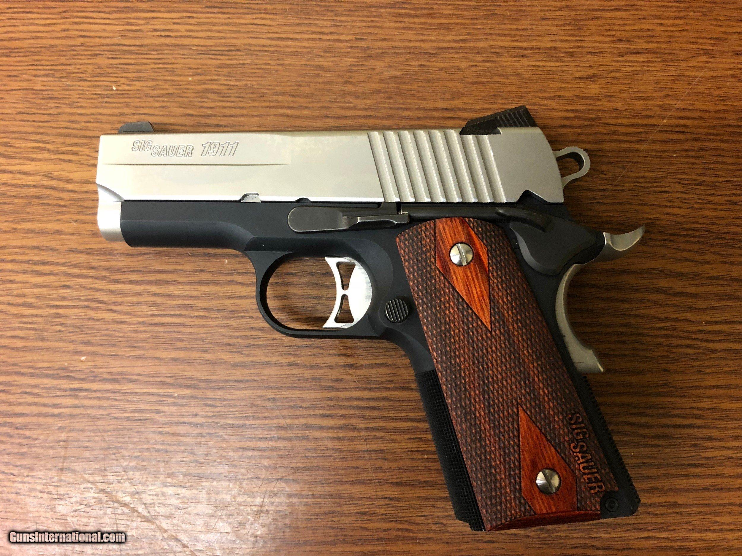 Sig 1911 Ultra Compact Pistol 1911U45TSS, 45 ACP